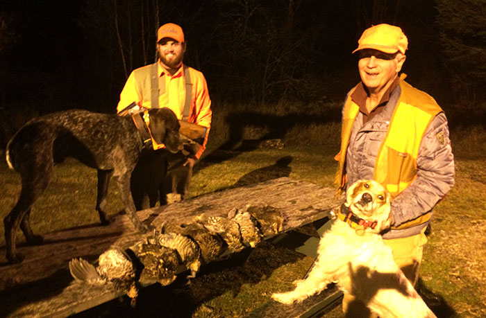 Successful Partridge Hunt with Dogs